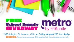 Metro by T-Mobile School Supply Giveaways