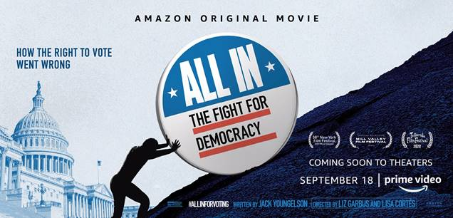 Amazon's ALL IN: THE FIGHT FOR DEMOCRACY Mayfield Drive-In